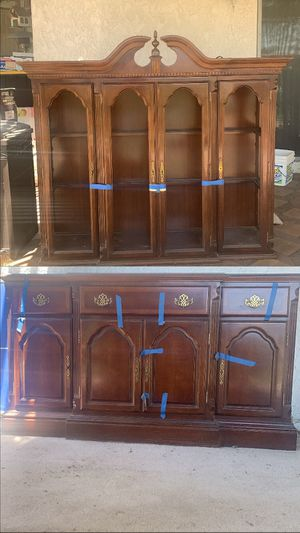 Antique wooden china cabinet for Sale in Rialto, CA