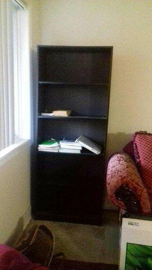 2 Dark Mahogany Wooden Bookshelves for Sale in Bladensburg, MD