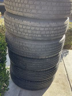 Set Of 6 Tires - 235/85R16 (5,000 Miles On Then) for Sale in Visalia,  CA