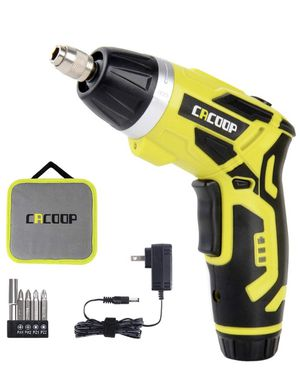 Cordless Electric Screwdriver Rechargeable, Front LED Light, Screwdriver Bits,Storage Case for Sale in El Cajon, CA