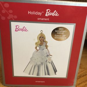 Heirloom Holiday Barbie 25th Anniversary Edition Ornament. for Sale in Paterson, NJ