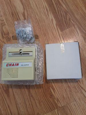 I have 2 Chain Burglar alarm for Door insert AA Batteries brand new each $10 for Sale in Pawtucket, RI