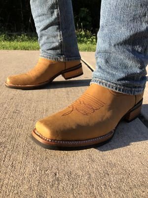 Rodeo Crazy Tan - Work Sole - 100% Leather! ROMAN BOOTS!! Delivery Service Included!!! for Sale in San Antonio, TX