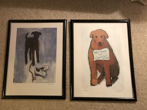 Framed dog posters for Sale in Fairfax, VA