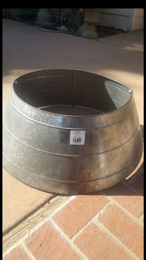 Galvanized Christmas tree collar for Sale in Madera, CA