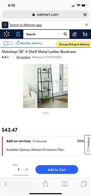 4 shelf metal ladder bookcase for Sale in Groveport, OH