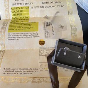 14K Natural Diamond Stud Earrings for Sale in Cypress, CA