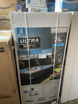 BRAND NEW IN BOX 100% / 24x12x52 INTEX RECTANGULAR ULTRA XTR for Sale in Fountain Valley, CA