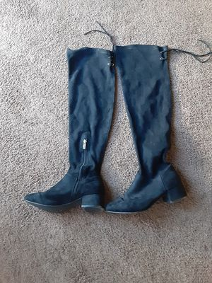VERY NICE WOMANS SIZE 8 1 /2 BLACK BOOTS . for Sale in Riverside, CA