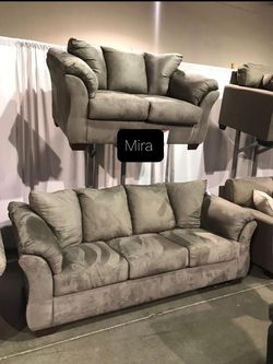 Brand New (Living Room Set Ashley Sofa And Loveseat. for Sale in Austin,  TX