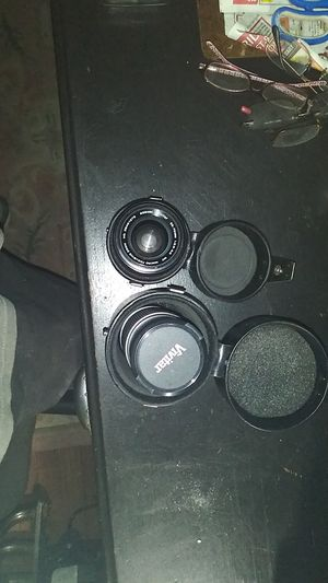 Vivitar 55mm 35 -70mm lens and Vivitar 52mm 70 to 210mm lens with cases for Sale in Phoenix, AZ