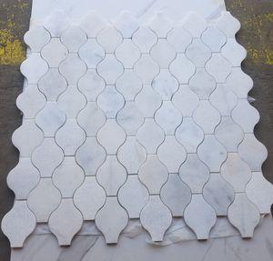 WHITE GRAY MARBLE MOSAIC LANTERN ARABESQUE FLOOR BACKSPLASH for Sale in Norcross, GA