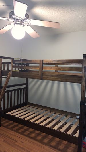 Wooden Bunk Bed, Mattress Not Included for Sale in Lauderhill, FL