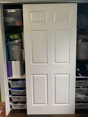 1 white Sliding closet door 80 x 36 for Sale in Kent, WA