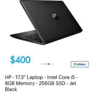 "Hp 17"" Laptop Intel Core I5 8GB Memory 256GB Ssd for Sale in Austin, TX"