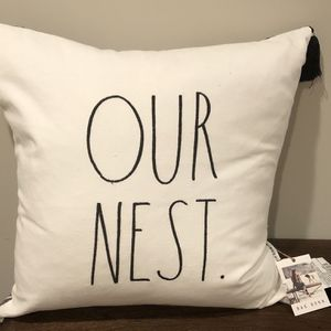 RAE DUNN OUR NEST PILLOW for Sale in Wantagh, NY