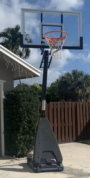 Spalding portable glass basketball hoop for Sale in Highland Beach, FL
