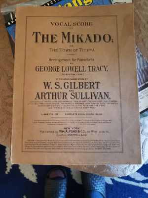 1885 The Mikado George Lowell Tracy for Sale in South Windsor, CT