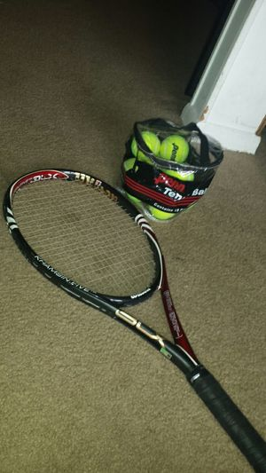 Wilson 5 Blx Khamsin Five 108 Tennis Racquet Racket 4-1/4 Free Syn Gut Stringing for Sale in Fairfax, VA