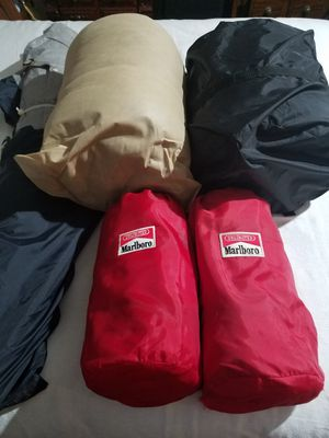 4 Sleeping Bags and a 2 Man Tent for Sale in Virginia Beach, VA