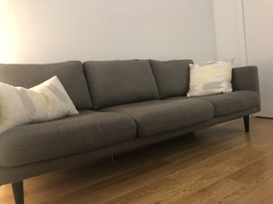 Grey Mid Century Couch for Sale in PECK SLIP, NY