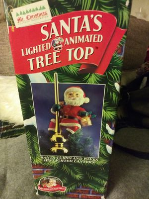 """""""Santa on a pole"""" Christmas tree top-lights up! for Sale in Pomona, CA"""