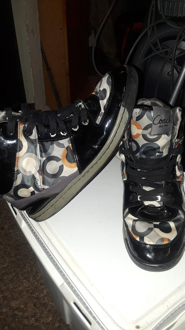 Women's 10 and a half coach high top sneakers