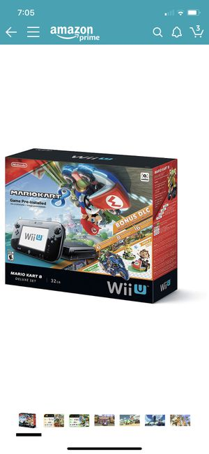 Nintendo Wii U 32gb Mario kart 8 (pre installed) deluxe bundle for Sale in Wellington, FL