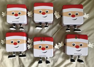 6 pieces empty santa xmas christmas cookie boxes for Sale in Bronxville, NY