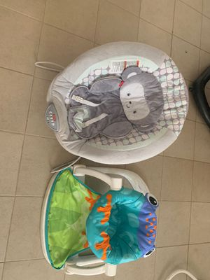 Baby bouncer, chair and car seat for Sale in Riverside, CA