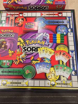 Pokémon Sorry Board Game for Sale in Orlando, FL