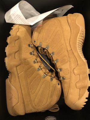 New Jordan 9 boot wheat size 11 for Sale in Sterling, VA