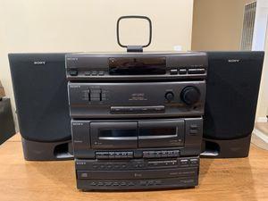 Sony LBT-D250 Stereo Rack System Cassette 5 Disc CD Changer (2) SS-D255 Speakers for Sale in Newark, CA