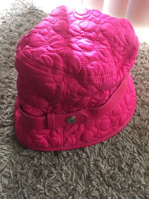 GORGEOUS AND AUTHENTIC HOT PINK COACH BUCKET HAT THAT IS IN PERFECT CONDITION!! for Sale in St. Louis, MO