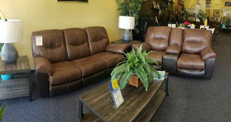 Follett Coffee Reclining Living Room Set 🔆 Sofa and Loveseat for Sale in Round Rock,  TX