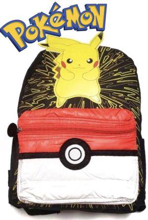 NEW! Pokemon BACKPACK Pikachu pokemon go kids bag Pokemon detective school bag cards games for Sale in Carson, CA