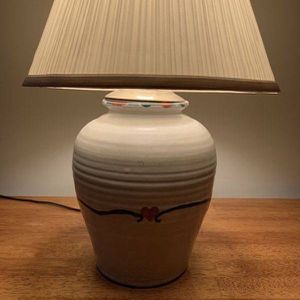 Vintage Ceramic Farmhouse Shabby Chic Ginger Jar Shaded Table Lamp With Heart for Sale in Chapel Hill, NC