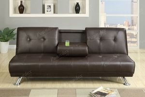 Brand new Futon Sofa faux leather for Sale in Long Beach, CA