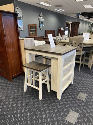 Dining Set - Table/ With Built In Shelves & 2 Stools for Sale in Vancouver, WA
