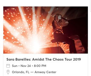 Sara Bareilles concert tickets for Sale in Land O Lakes, FL