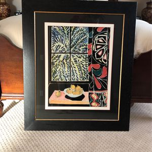 Matisse Print In Solid Wood Frame for Sale in Nipomo, CA