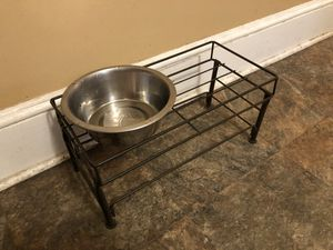 Dog bowl and bowl stand for Sale in Sunbury, PA