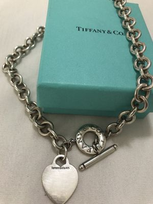 Authentic Tiffany & Co 925 Choker used twice Great condition for Sale in Chino Hills, CA