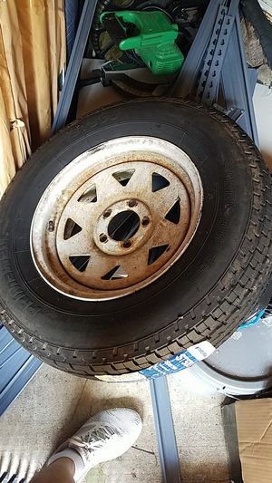 Trailer spare tire amd extra rim for Sale in Port St. Lucie, FL