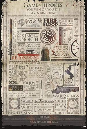 GAME OF THRONES INFOGRAPHIC for Sale in Falls Church, VA