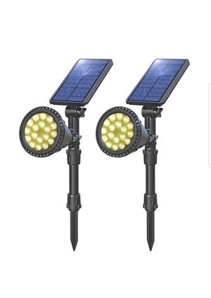 Solar Lights Outdoor, Upgraded Waterproof 18 LED Solar Landscape Lights Solar Spotlight Yard Night Light , 2 Pack (Warm White) for Sale in Silver Spring, MD