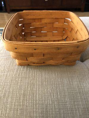 Longaberger basket. Napkin size for Sale in Eatontown, NJ
