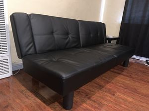 Leather Futon (moving out) for Sale in San Jose, CA