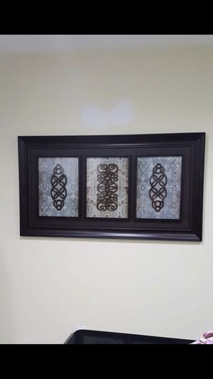 GORGEOUS LARGE DARK FRAMED WALL ART / CUADRO GRANDE MARCO OSCURO for Sale in Miami, FL
