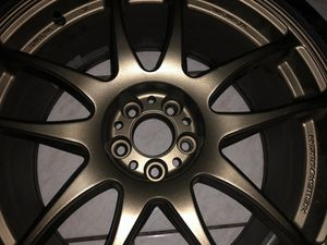 Work Emotion Kiwami 5x100 18x8.5 +38 and 225/40/R18 Firehawk Indy Tires for Sale in Clearwater, FL